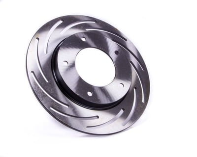 "Lightweight Brake Rotor, 10"" Dia., LH (Driver), Strange Alum., Ultra Strut, Funny Car Spindle, 1.0"" Offset"