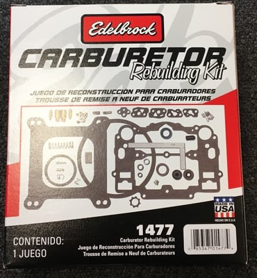 Carburetor Rebuild Kit, Edelbrock Performer