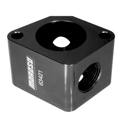 Billet Aluminum, Water Neck Port Adapter / Spacer, Black