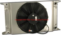 "Dual Pass Drag Racing Radiator, 22"" x 13"" x 2"", No Fill Neck, 3/4"" NPT In / Out, Door Car Style"