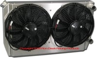 "Dual Pass Off-Road Radiator, 28"" x 16"" x 3"", 1.5"" Chevy In / Out"