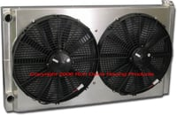 "Dual Pass Off-Road Radiator, 34"" x 19"" x 3"" Ford In / Out"