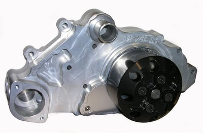 Chevy LS Mechanical Water Pump, Short, Counter-Clockwise, Billet Aluminum