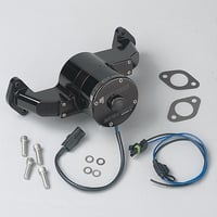 BBC Electric Water Pump, 35 GPM, Black Anodized Aluminum