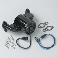 SBC Electric Water Pump, 35 GPM, Black Anodized Aluminum