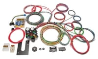 Universal Wiring Harness Kit, 21-Circuit, Dash Ignition, Extra Long Harness, Front Fuse Block
