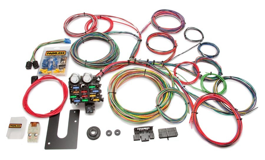 z10102 universal wiring harness kit, 21 circuit, dash ignition, extra long