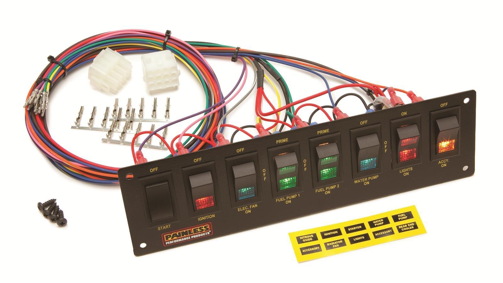 breaker panel box wiring diagram 8 circuit dash mount rocker switch panel