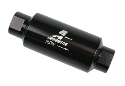 High Flow In-Line Fuel Filters, Billet Aluminum Housing