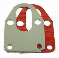 SBC 283-400 Fuel Pump Mounting Plate with Gasket, Chrome Steel