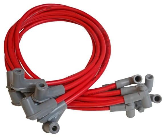 BBC, Under Header Spark Plug Wires, 8.5mm Super Conductor, Red on
