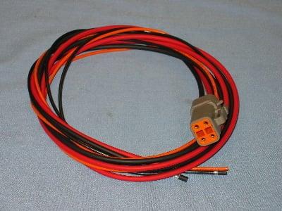 Power Grid Part #7720 Main Harness, Deutsch 4 Pin, Heavy Red, Heavy on