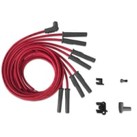 Universal Multi Angle / Straight Spark Plug Wires, HEI Style Cap End, 8.5mm Super Conductor, Red