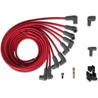Universal 90° Spark Plug Wires, HEI Distributor End, 8.5mm Super Conductor, Red
