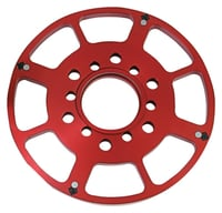 "SBC 7.00"" Crank Trigger Replacement Wheel, Red"