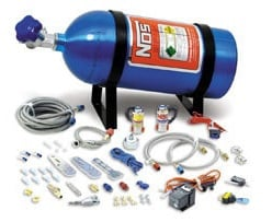 Wet Nitrous Kit, V8 EFI, 75-125 HP, 10# Blue Bottle